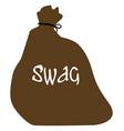 Burglars isolated swag bag