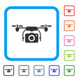 camera drone framed icon vector image vector image