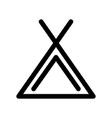 camping tent icon symbol of campsite outline vector image
