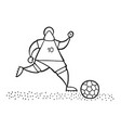 cartoon soccer player man running and dribble vector image