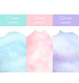 cherry bilberry and blueberry cotton candy vector image vector image