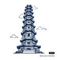 Chinese pagoda vector image