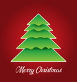 christmas background with tree design vector image vector image