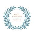 christmas card winter wreath tree vector image vector image