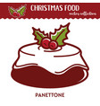 christmas food festive dessert with glaze and vector image vector image