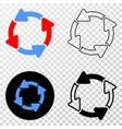 circulation arrows eps icon with contour vector image vector image