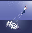 concept addiction social media and online vector image