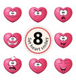 cute heart smiley vector image vector image