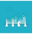 Data analysis strategy planning vector image