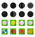 design of sport and ball icon collection vector image vector image