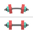 dumbbells normal and bent vector image