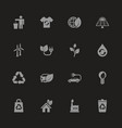 ecological - flat icons vector image vector image