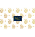 elegant golden paisley pattern background vector image