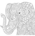 elephant adult coloring page vector image