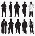 emergency rescue silhouettes vector image