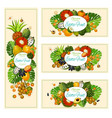 exotic tropical fruits harvest banners vector image vector image