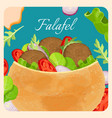 falafel exotic eastern dish with meat vector image