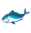 fish funny vector image
