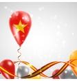 Flag of Vietnam on balloon vector image