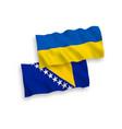 flags bosnia and herzegovina and ukraine vector image