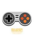 flat joystick icon gaming background vector image vector image