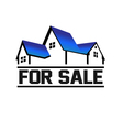 For Sale House vector image