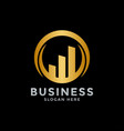 golden business logo icon design template vector image