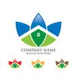 green house logo vector image vector image