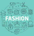 green line flat circle fashion vector image