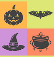halloween isolaten design elements vector image vector image
