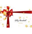 holiday christmas gift silk bow vector image