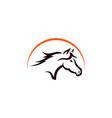 horse line art logo design template vector image