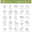 Icons set for shipping and delivery vector image vector image
