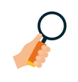 Lupe and hand icon Search design graphic vector image vector image