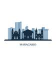 maracaibo skyline monochrome silhouette vector image vector image