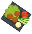 meatballs and vegetables sauce with meat food vector image vector image