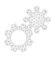 mesh gears icon vector image vector image