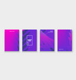 minimal cover collection design neon halftone vector image