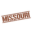 Missouri brown square stamp vector image vector image