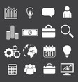 monochrome business icons set vector image vector image