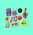 music colored vector image