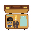 Packed suitcase vector image vector image