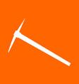 pickaxe white icon vector image