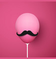 pink background with funny 3d balloon with vector image vector image