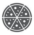 pizza glyph icon italian and food fast food sign vector image vector image