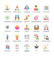 project management icons collection in fla vector image vector image