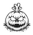 pumpkin halloween silhouette vector image