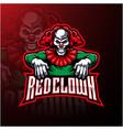 red clown sport mascot logo design vector image vector image