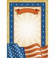 Retro American Frame vector image vector image