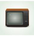 retro realistic tv set vector image